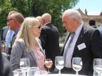 Monique Baldinger im Gespräch mit Martin Sollberger, Präsident der AGVS-Sektion Aargau.
